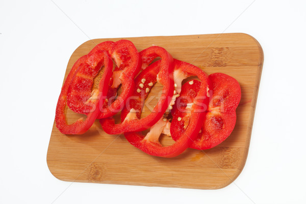 Sliced red pepper isolated on white background Stock photo © wjarek