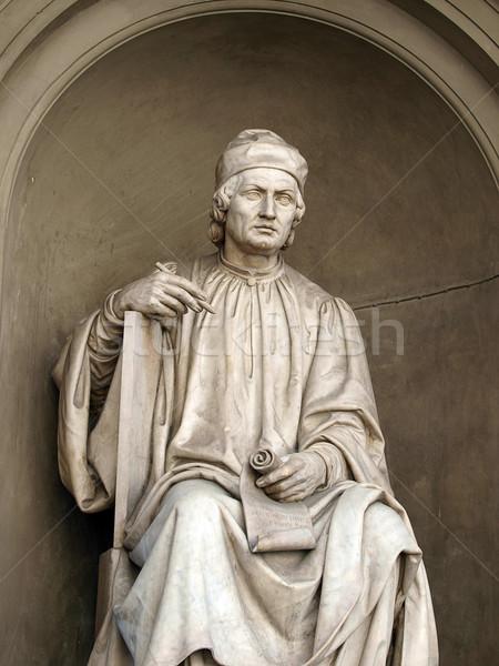 Statue célèbre architecte FLORENCE italien sculpteur Photo stock © wjarek