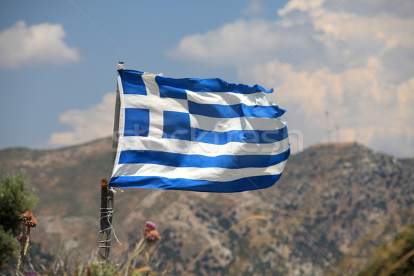The flag of Greece in a similar state as the economy Stock photo © wjarek
