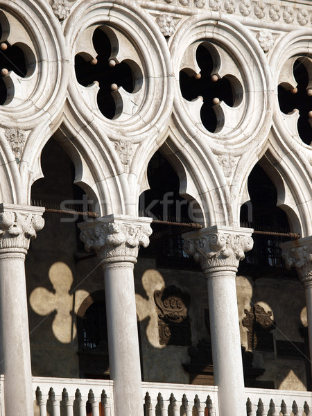 Venice - tracery from the Doge's Palace, one of venice symbol Stock photo © wjarek