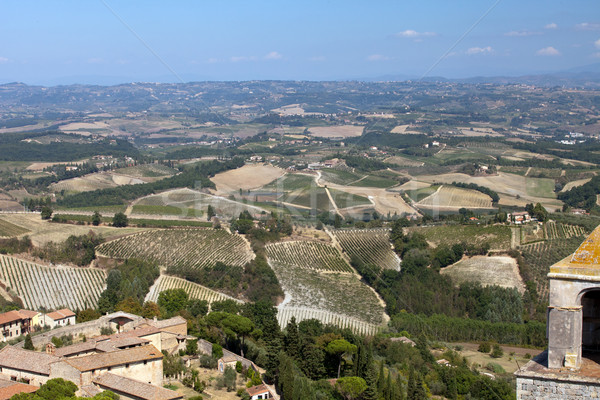 Hills around San Gimignano. Tuscany Stock photo © wjarek
