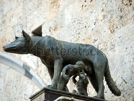 Siena - the town's emblem; a she-wolf suckling the infants Romulus and Remus. Stock photo © wjarek