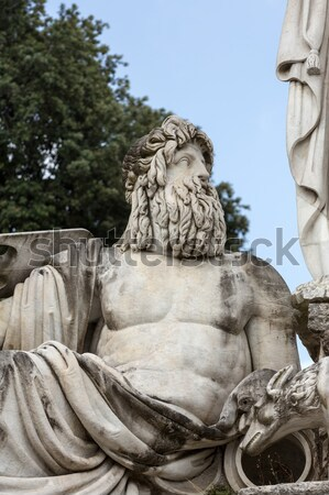 Rome - Fountain of Neptune in Piazza Popolo Stock photo © wjarek