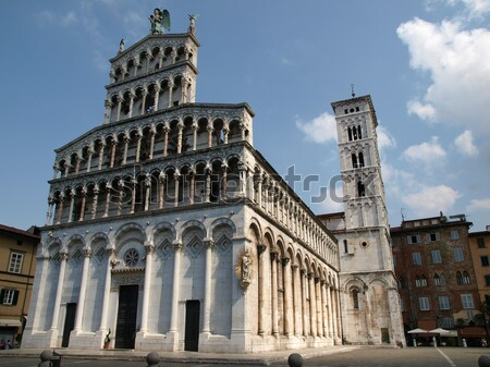 Pisa - Baptistry, Leaning Tower and Duomo in the Piazza dei Miracoli Stock photo © wjarek
