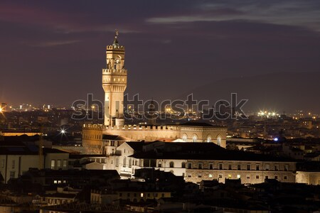 Photo stock: FLORENCE · nuit · vue · ville · architecture · belle
