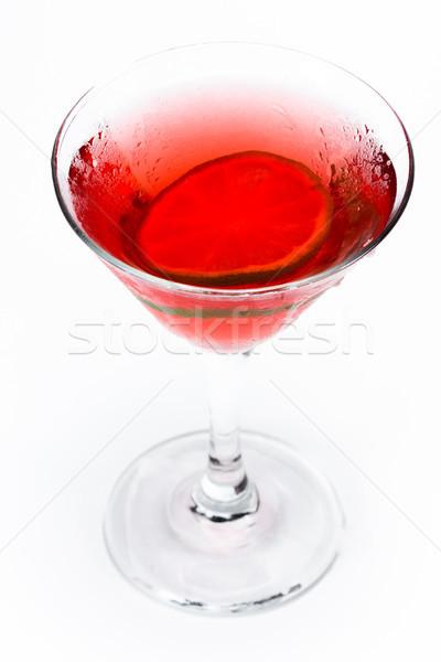 Piros martini fehér közelkép koktél felszolgált Stock fotó © wollertz