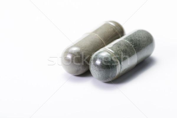 Blauw groene capsules groep capsule Stockfoto © wollertz
