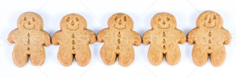 Stock fotó: Gyömbér · kenyér · férfiak · csoport · mézeskalács · ember · áll