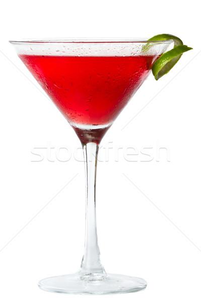 Kozmopolit yalıtılmış beyaz arka plan içmek kırmızı Stok fotoğraf © wollertz