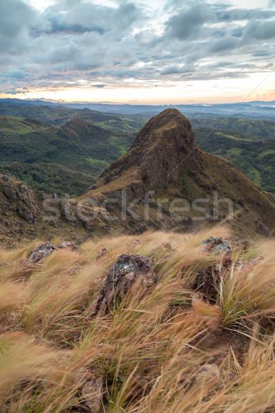 Stock fotó: Reggel · fény · gyönyörű · hegy · völgy · Costa · Rica