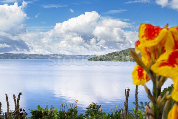 Tó Costa Rica gyönyörű jelenet megnyugtató kilátás Stock fotó © wollertz