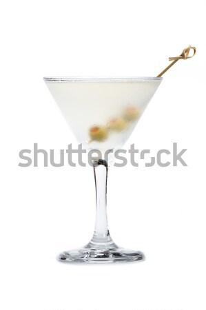 Clássico martini azeitonas sujo martini vodka Foto stock © wollertz