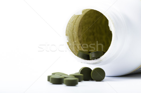 fermented chlorella tablets Stock photo © wollertz