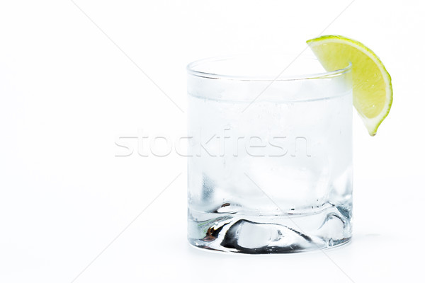vodka soda with a lime Stock photo © wollertz