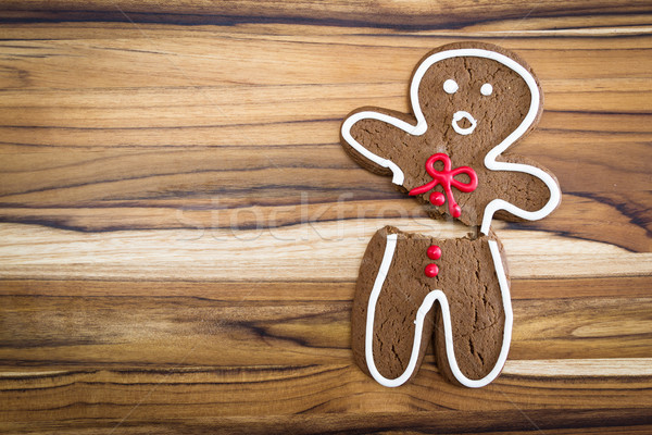 broken gingerbread man  Stock photo © wollertz