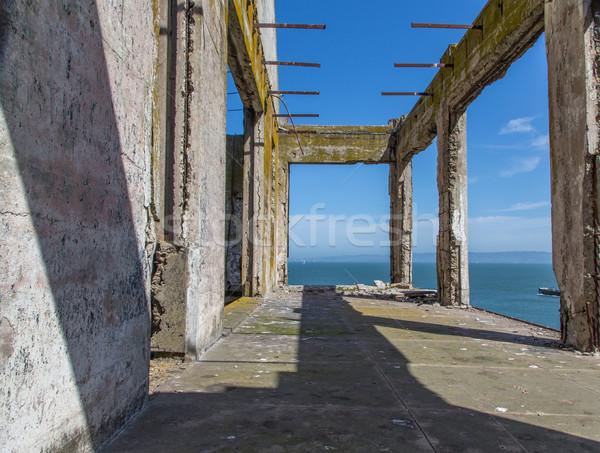 Prison Buildings of Alcatraz Island Prison Stock photo © wolterk