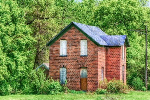 Abandoned Prairie Farmhouse Stock photo © wolterk