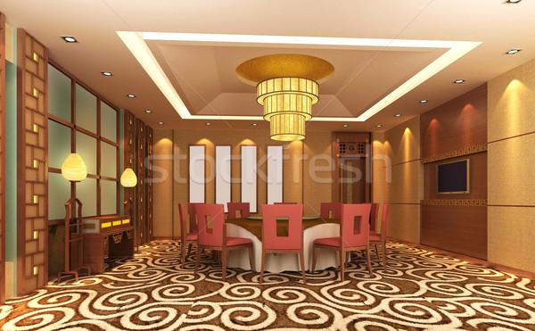 3D современных ресторан дизайна комнату клуба Сток-фото © wxin