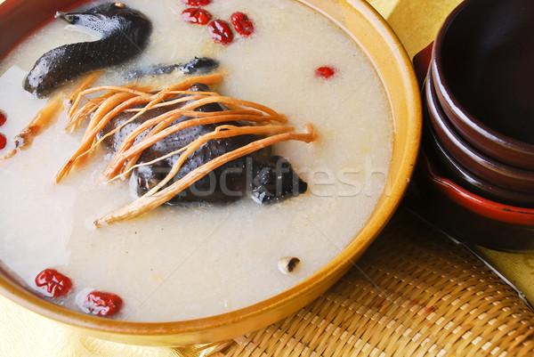 Kippensoep stoven kip restaurant witte kok Stockfoto © wxin