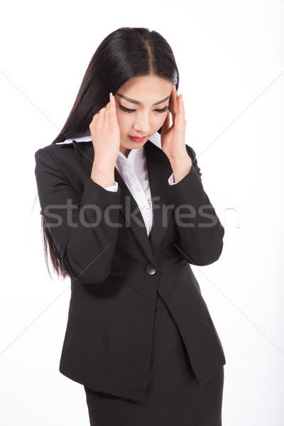 ビジネス女性 孤立した 白 失望した 小さな 女性実業家 ストックフォト © wxin