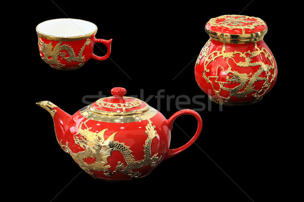 red tea set  Stock photo © wxin