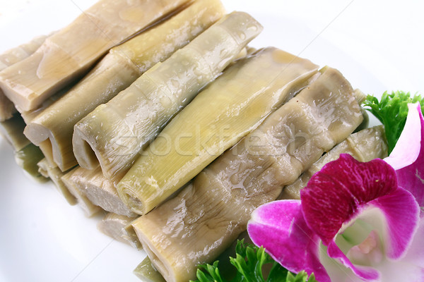 food in china-- delicious hand peeling bamboo shoots Stock photo © wxin