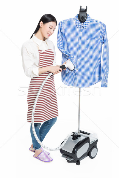 young housewife ironing Stock photo © wxin