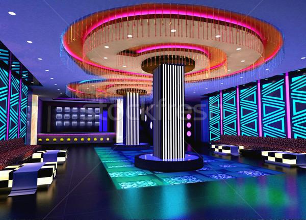 3D club hall, corridor Stock photo © wxin