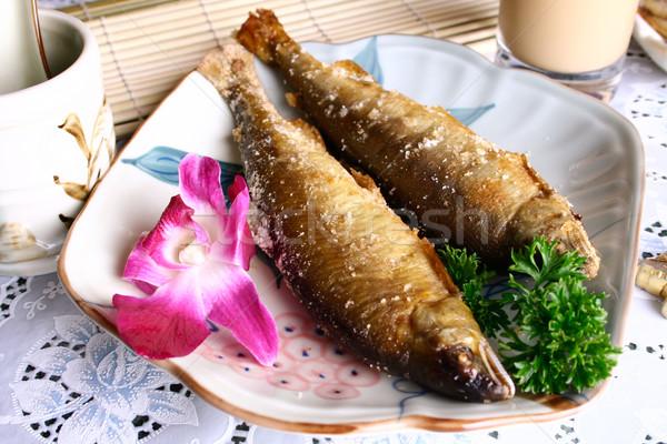 Kína finom hal étel étterem szakács Stock fotó © wxin