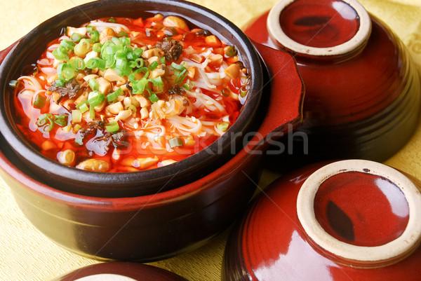Stock fotó: Kínai · tészta · leves · Kína · finom · tavasz
