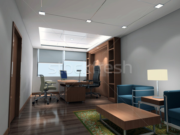 3d modern office room Stock photo © wxin