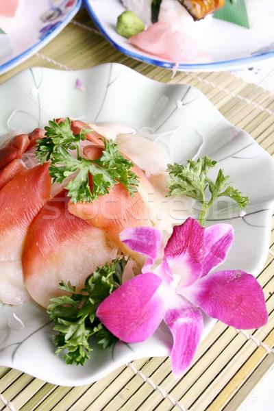 China delicioso comida coentro marisco sashimi Foto stock © wxin