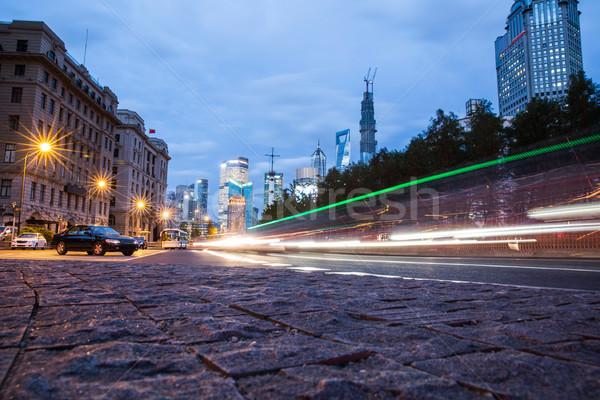 ночь декораций город свет движения блестящий Сток-фото © wxin