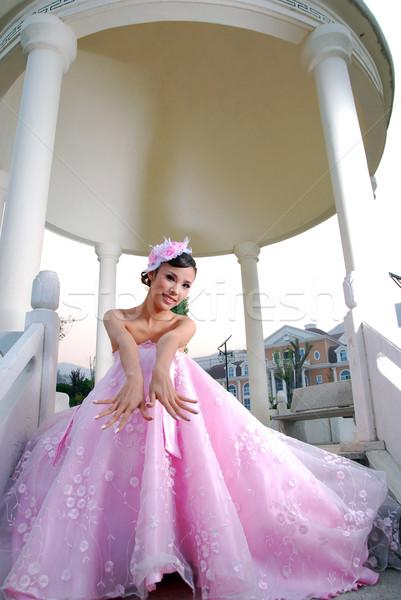 結婚式 写真 笑顔 幸せ 小さな 笑う ストックフォト © wxin