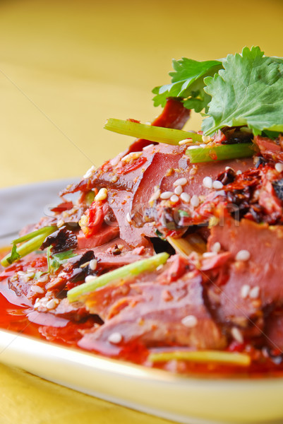 pork lungs in chili sauce  Stock photo © wxin