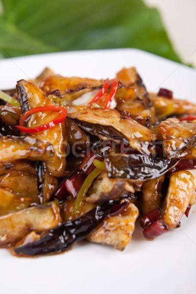 Kína finom étel chili padlizsán szakács Stock fotó © wxin