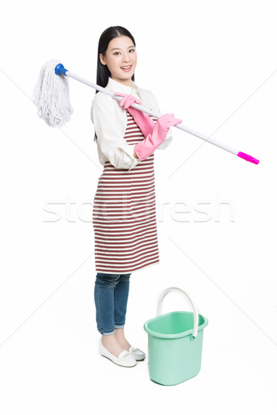 female cleaner Stock photo © wxin
