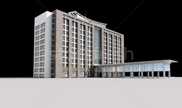 3D bouwkundig bouw kantoorgebouw moderne stad Stockfoto © wxin