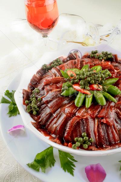 Cina alimentare anguilla pesce ristorante Foto d'archivio © wxin