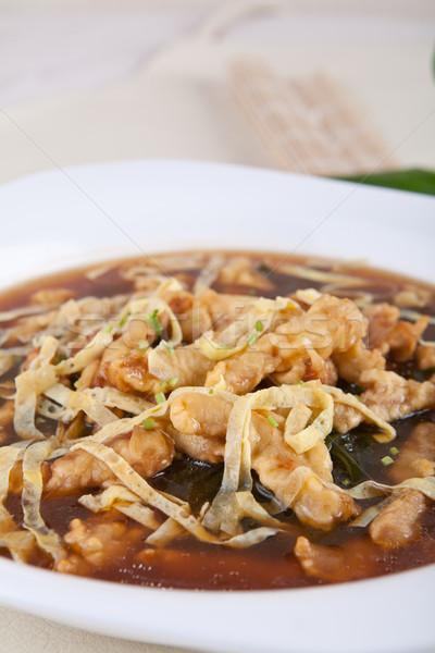 kelp fried meat Stock photo © wxin