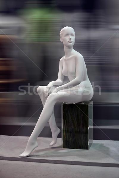 Schaufensterpuppe Vorderseite Unschärfe keine Kleidung Mode Stock foto © wxin