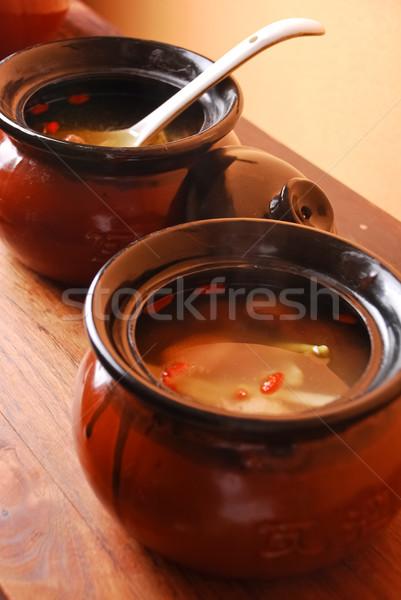 Alimentare Cina brodo di pollo ristorante bere Foto d'archivio © wxin