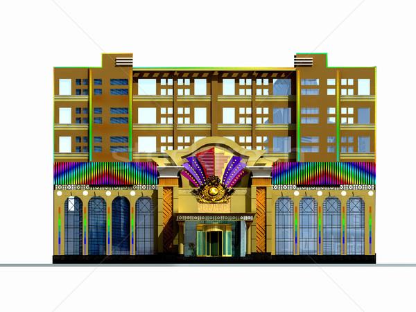 3D architektonisch modernen Stadt Bau Stock foto © wxin
