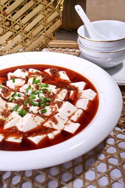 Kína finom étel hal tofu étterem Stock fotó © wxin