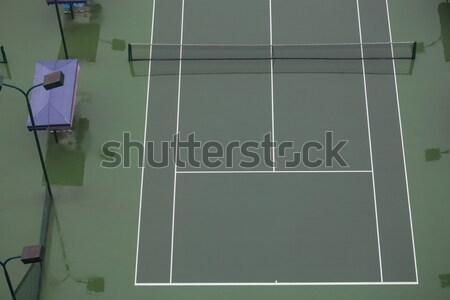Quadra de tênis vazio chuva fitness campo espaço Foto stock © wxin