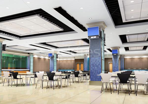 3D modern étterem terv szoba klub Stock fotó © wxin