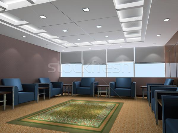 Stock fotó: 3D · recepció · szoba · renderelt · kép · üzlet · épület