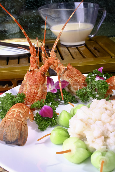 Stock photo: Chinese food- pepper lobster