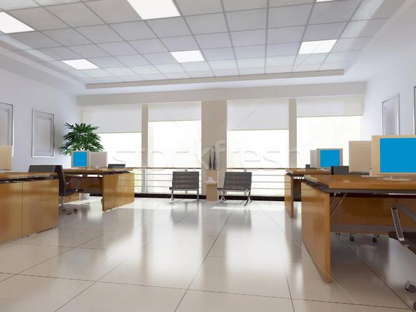 3D modern iroda szoba senki 3d render Stock fotó © wxin