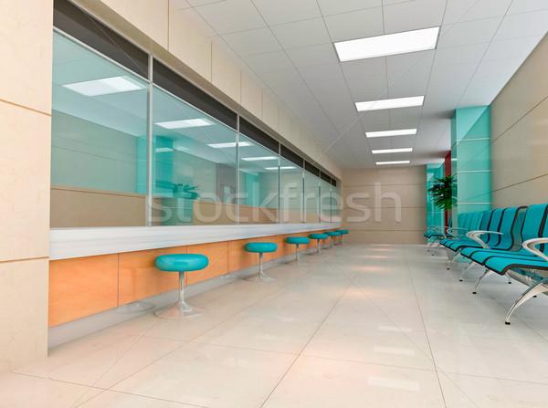 Stock fotó: 3D · modern · üzlet · előcsarnok · terv · belső